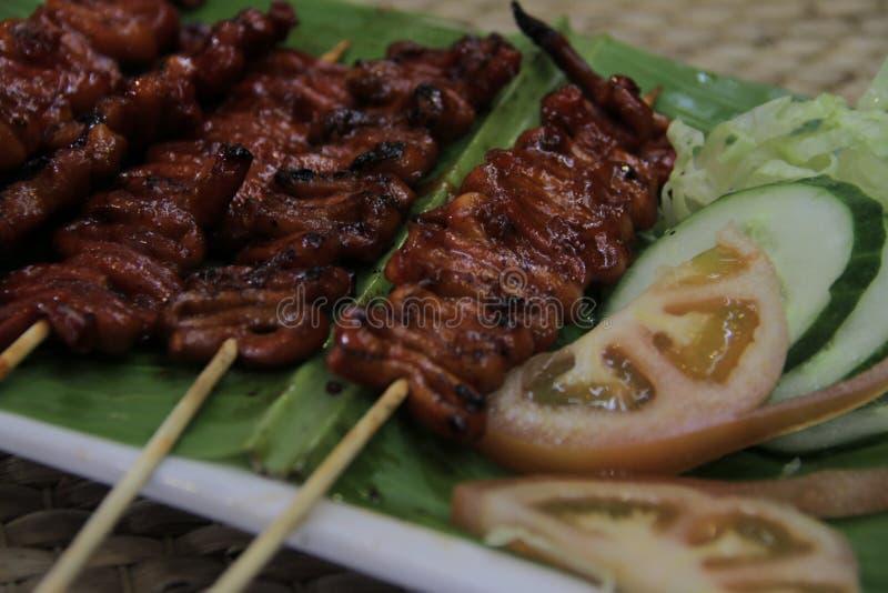 Isaw ng kurczaka Manok Piec na grillu jelito zdjęcia royalty free