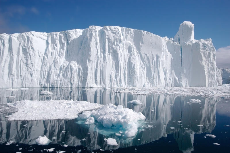 isberg 8 arkivfoto