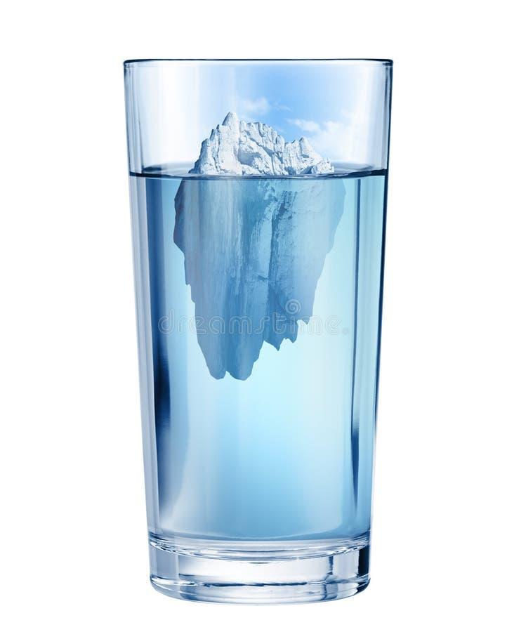 Isberg i havet G?mt hotbegrepp illustration 3d vektor illustrationer