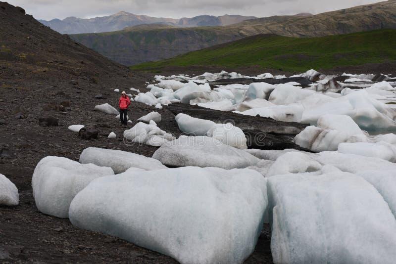 Isberg i Jokulsarlon den is- lagun  arkivbilder
