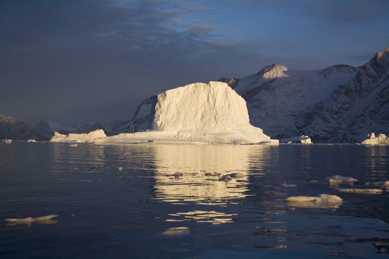Isberg i Scoresbysund i Grönland royaltyfria bilder