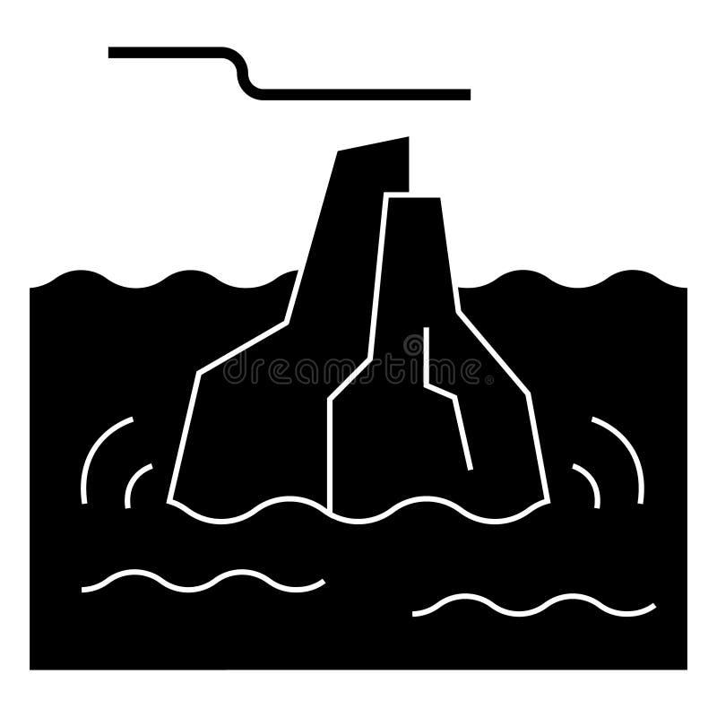 Isbergsymbol, vektorillustration, tecken på isolerad bakgrund vektor illustrationer