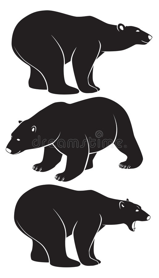 Isbjörn stock illustrationer