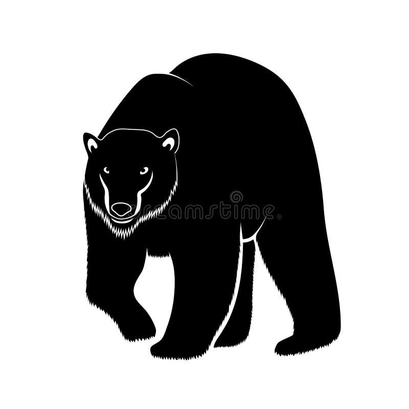Isbjörn på en vit bakgrund royaltyfri illustrationer