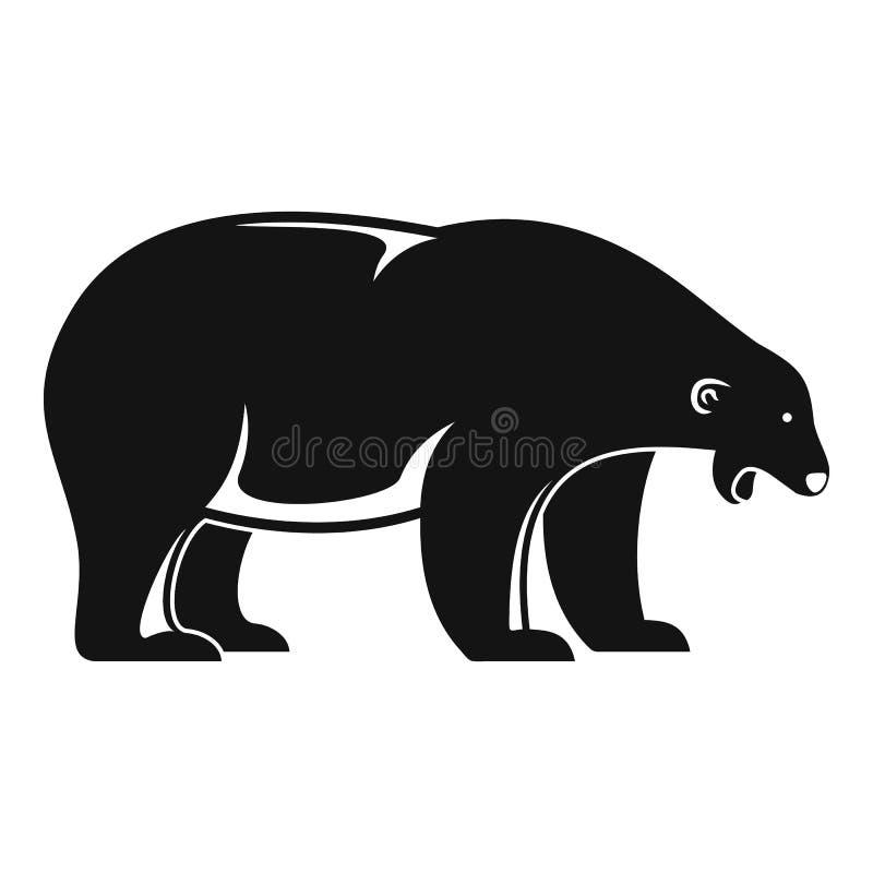 Isbjörntjutsymbol, enkel stil royaltyfri illustrationer