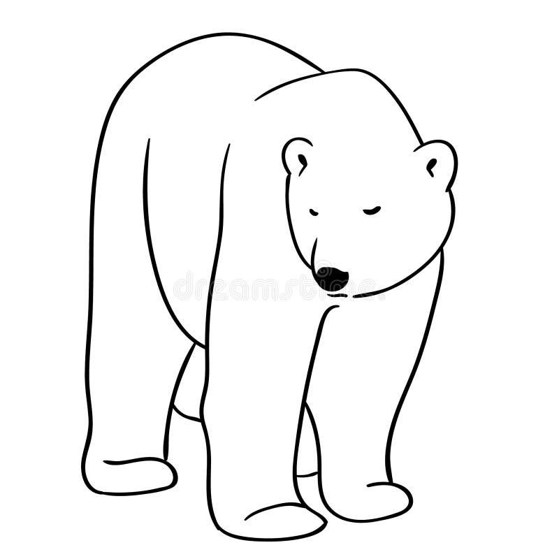 Isbjörnvektor, Eps, logo, symbol, konturillustration vid crafteroks för olikt bruk Besöka min website på https://craftero vektor illustrationer