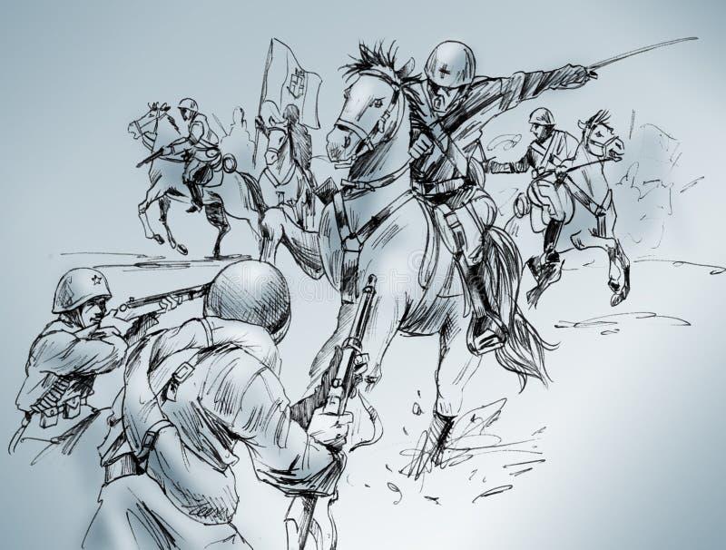 Download Isbuscenskij battle stock illustration. Illustration of russian - 9642745