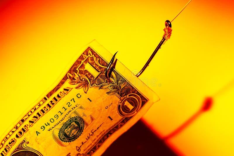Isca do dinheiro foto de stock