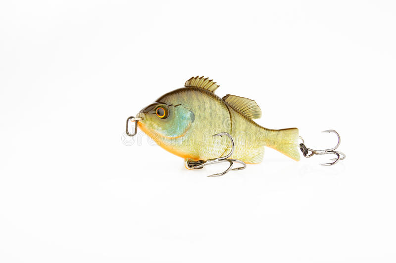 Iscas e engrenagem de pesca para travar peixes predatórios fotografia de stock