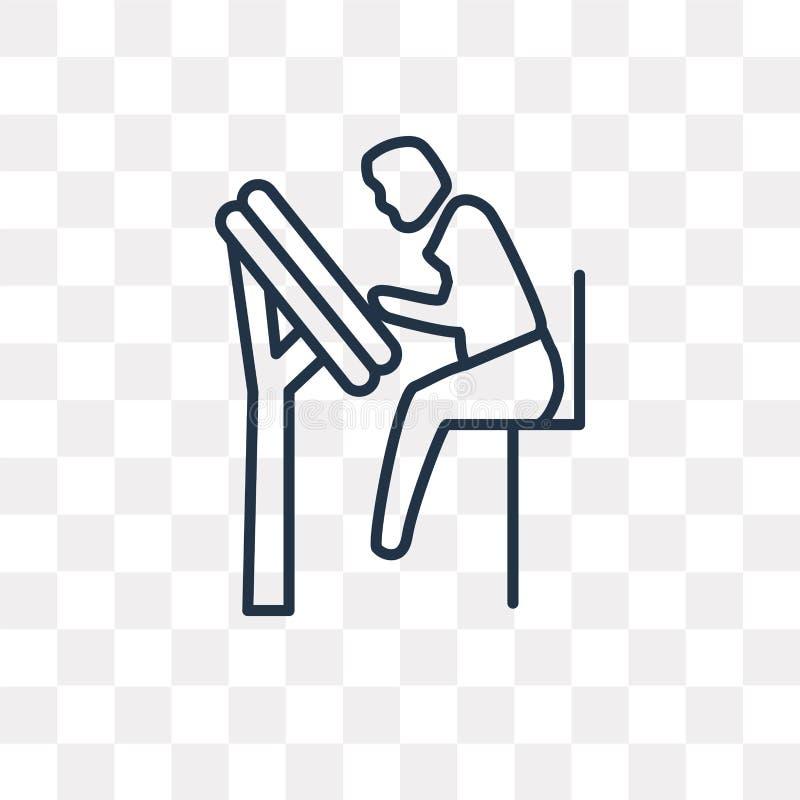 Iscensätta den Working vektorsymbolen som isoleras på genomskinlig bakgrund, royaltyfri illustrationer