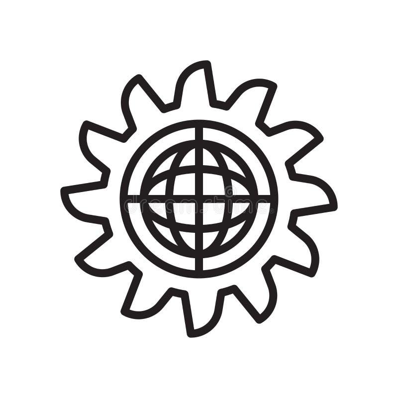 Iscensätta det symbolsvektortecknet och symbolet som isoleras på vit backgr stock illustrationer