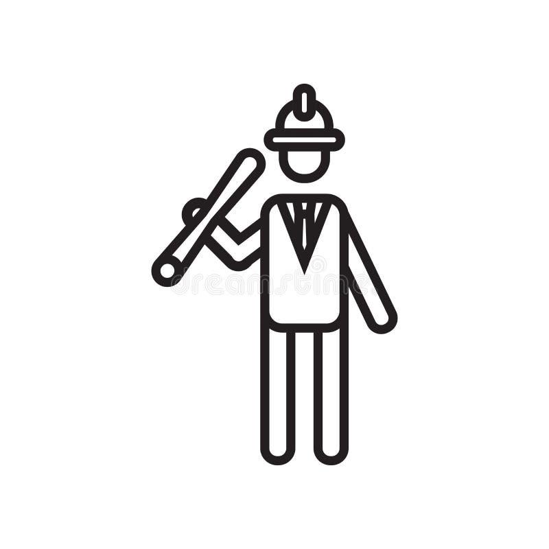 Iscensätta det symbolsvektortecknet och symbolet som isoleras på vit backgroun stock illustrationer