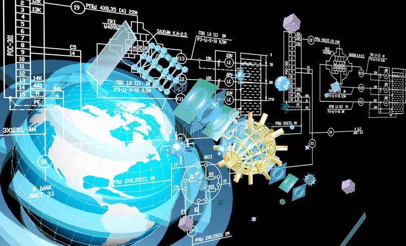 Iscensätta industriell planläggande internetuppkoppling vektor illustrationer