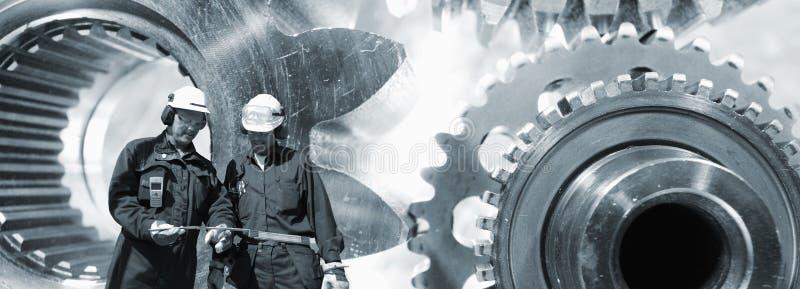 Iscensätta och stort maskineri för kugghjulhjul arkivfoton