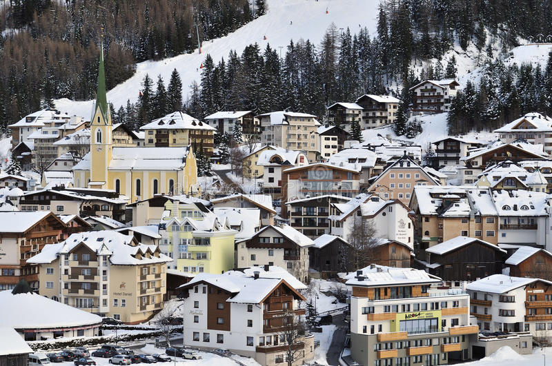Ischgl. The centre of the mountain village Ischgl in Tirol - Austria royalty free stock images
