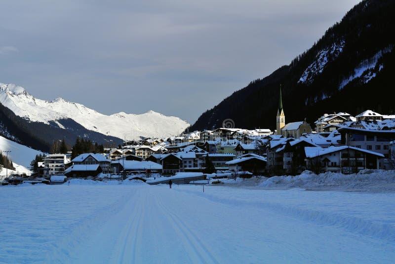 Ischgl, Silvretta Alpen, Tirol, Austria. The mountain village Ischgl in Paznaun valley in Tirol - Austria royalty free stock images