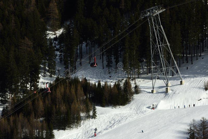 Ischgl, Silvrettabahn, Silvretta Alpen, Tirol, Áustria foto de stock royalty free