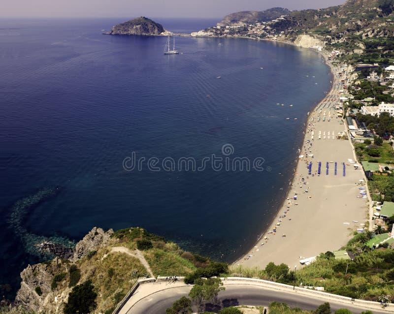 Ischia, beach Maronti royalty free stock photos