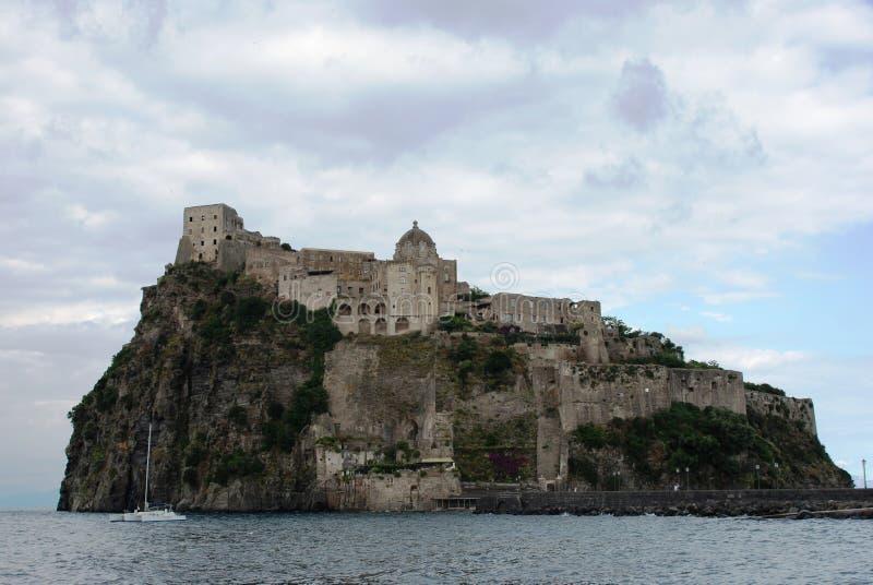 Ischia castle stock photos