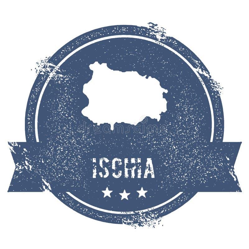 Ischia loga znak ilustracja wektor
