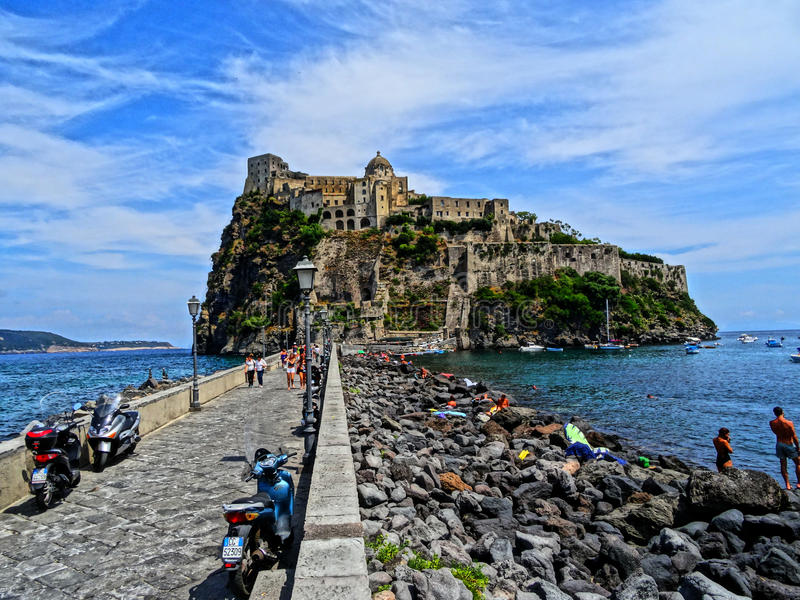 Ischia van Castelloaragonese royalty-vrije stock fotografie