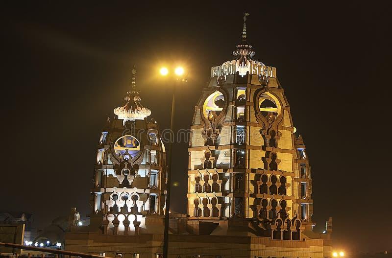 Download ISCKON Temple At Night, New Delhi Stock Image - Image of landmark, city: 34299597