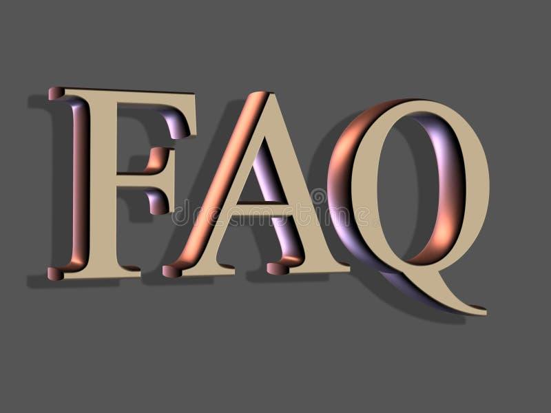 iscrizione 3D: FAQ illustrazione di stock