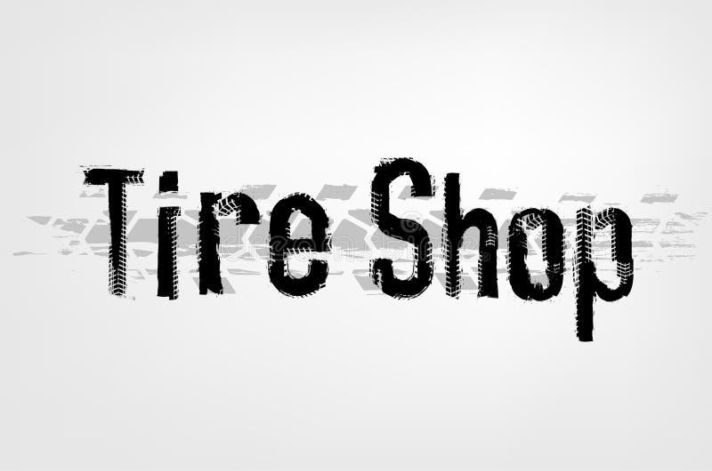 Iscrizione del negozio della gomma illustrazione di stock