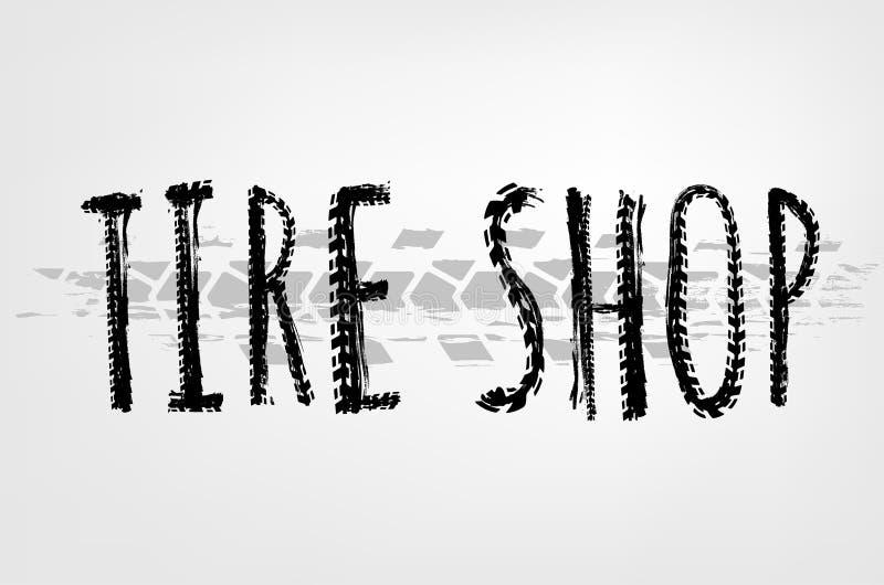 Iscrizione del negozio della gomma royalty illustrazione gratis
