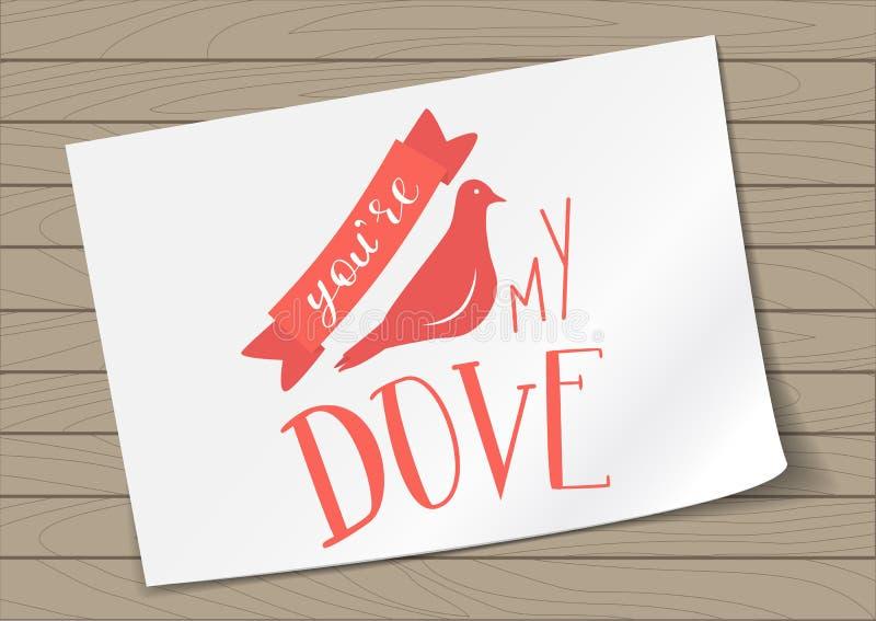 Iscrizione del Valentine Day con lettere illustrazione vettoriale