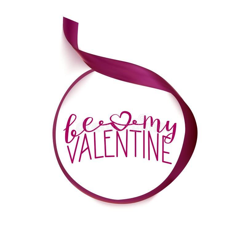Iscrizione del Valentine Day con lettere illustrazione di stock