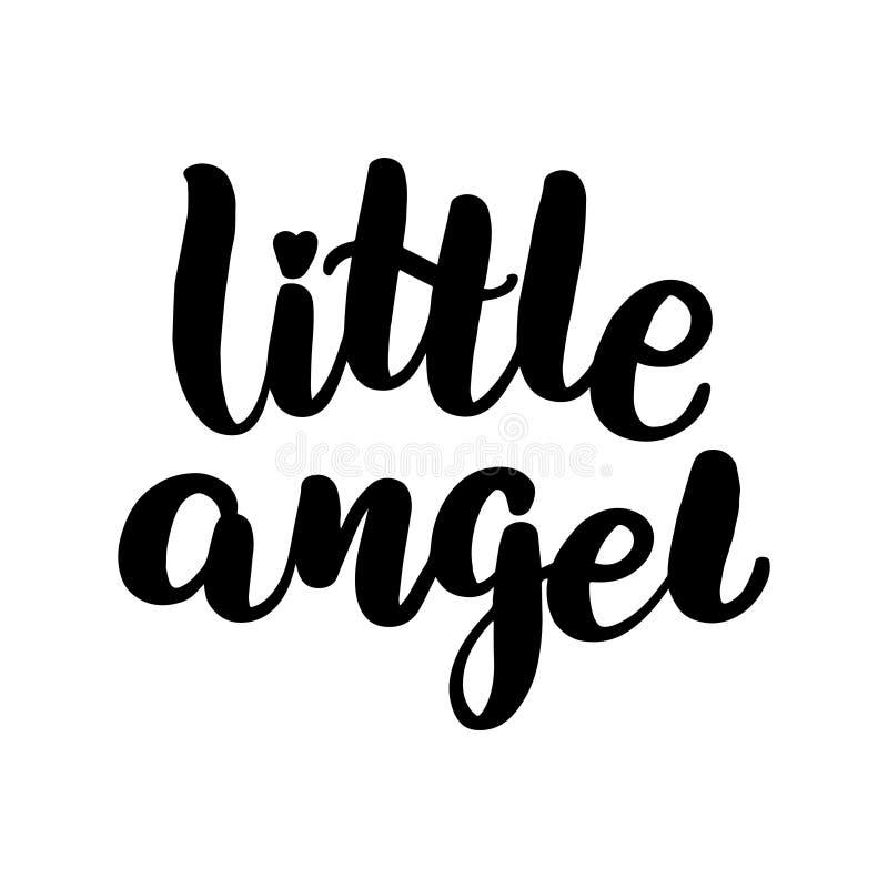 iscrizione dell'angelo con lettere piccolo royalty illustrazione gratis