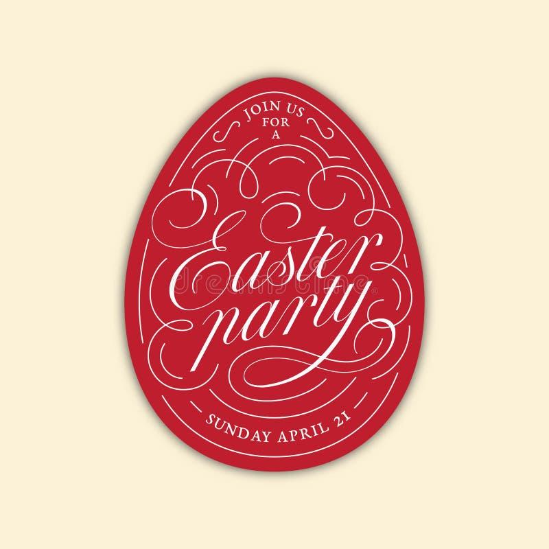 Iscrizione dell'uovo del partito di Pasqua fotografie stock libere da diritti