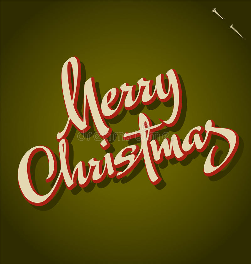 Iscrizione della mano di Buon Natale illustrazione di stock
