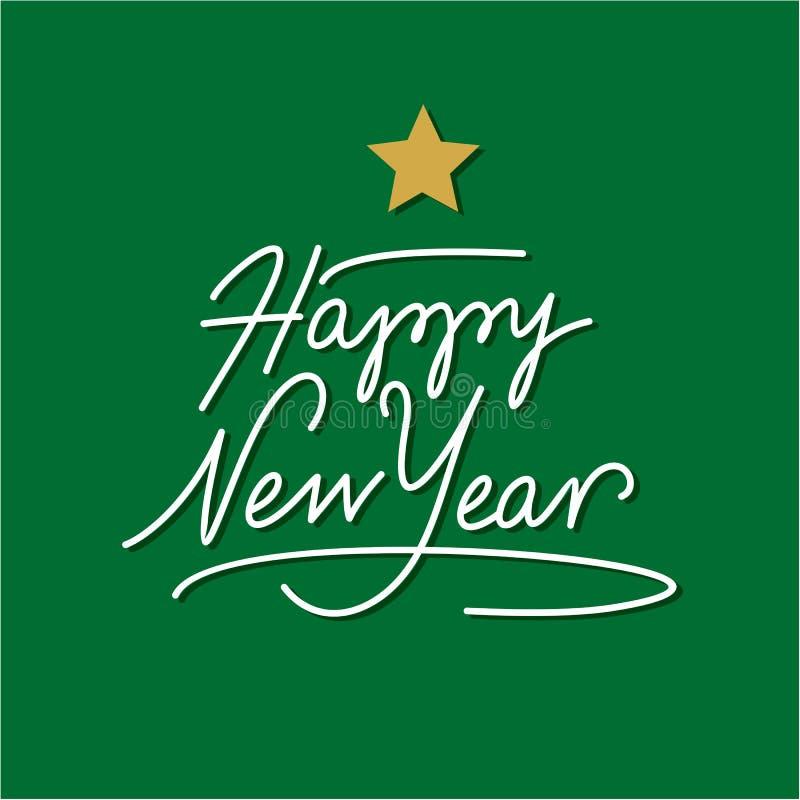 Iscrizione della mano di nuovo anno felice royalty illustrazione gratis
