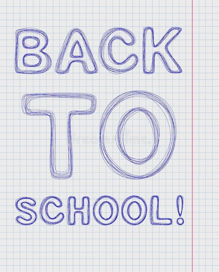 Iscrizione della penna di nuovo alla scuola royalty illustrazione gratis
