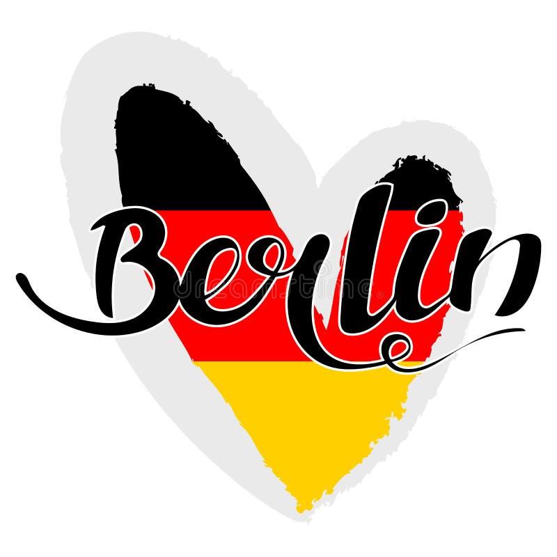 Iscrizione di berlino berlino scritta mano moderno - Bandiera della pagina di colorazione della germania ...