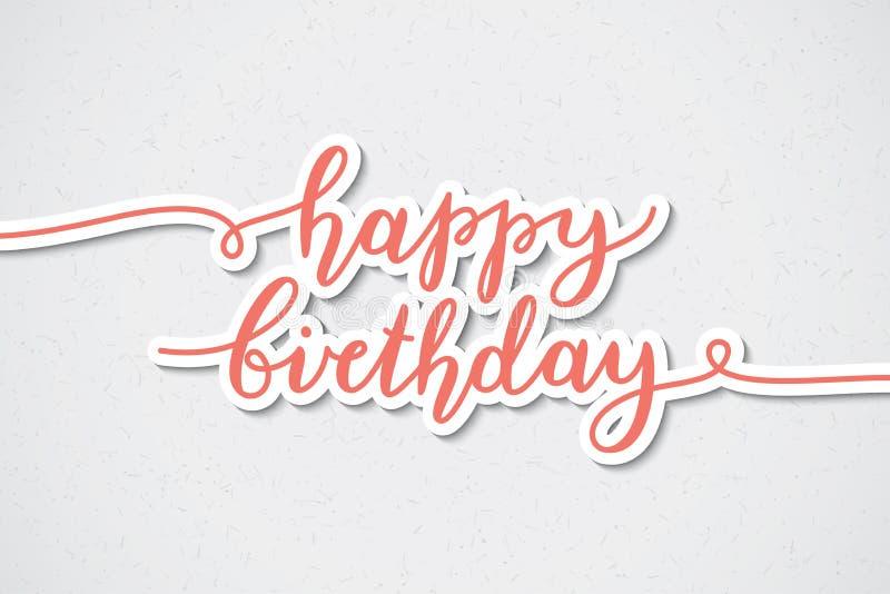 Iscrizione di buon compleanno royalty illustrazione gratis