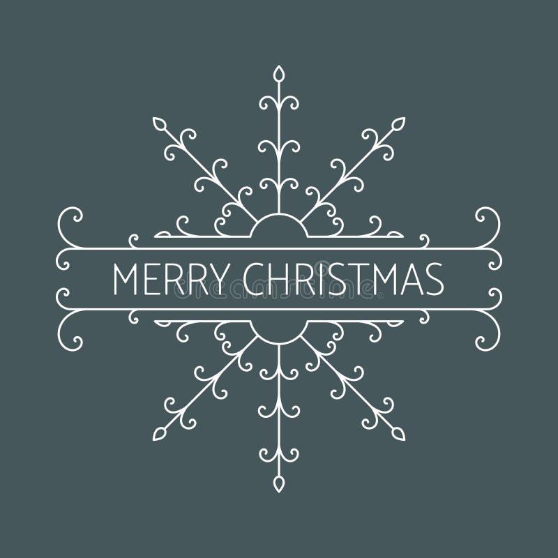 Download Iscrizione di Buon Natale illustrazione vettoriale. Illustrazione di classico - 117978224