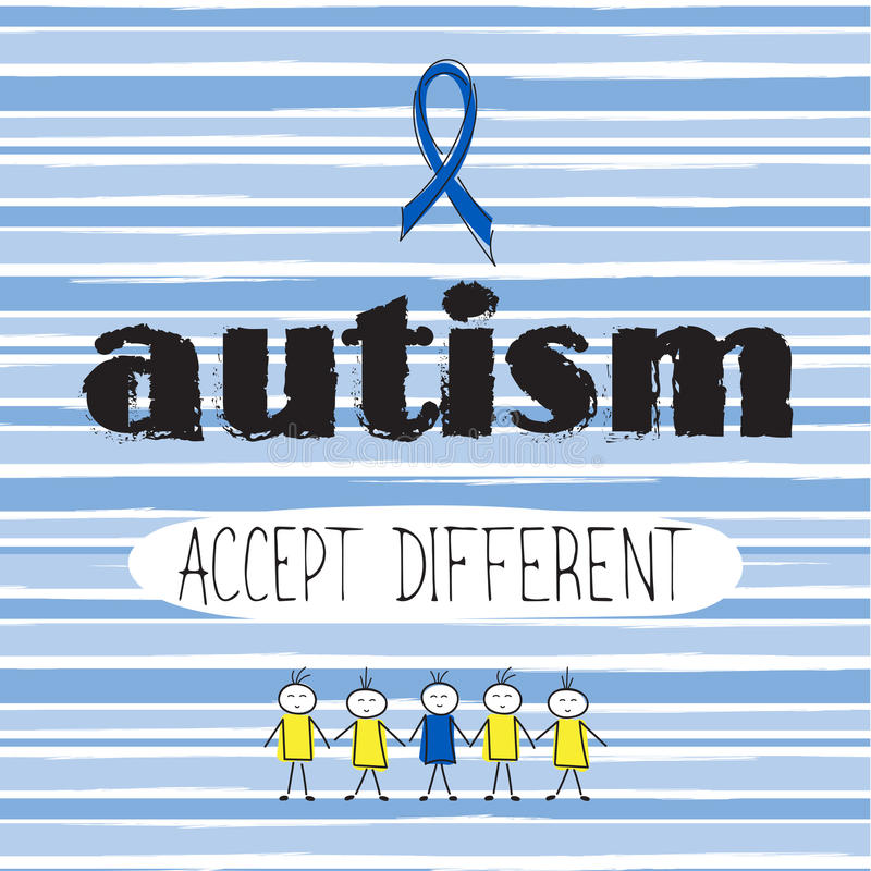 Iscrizione di consapevolezza di autismo illustrazione vettoriale