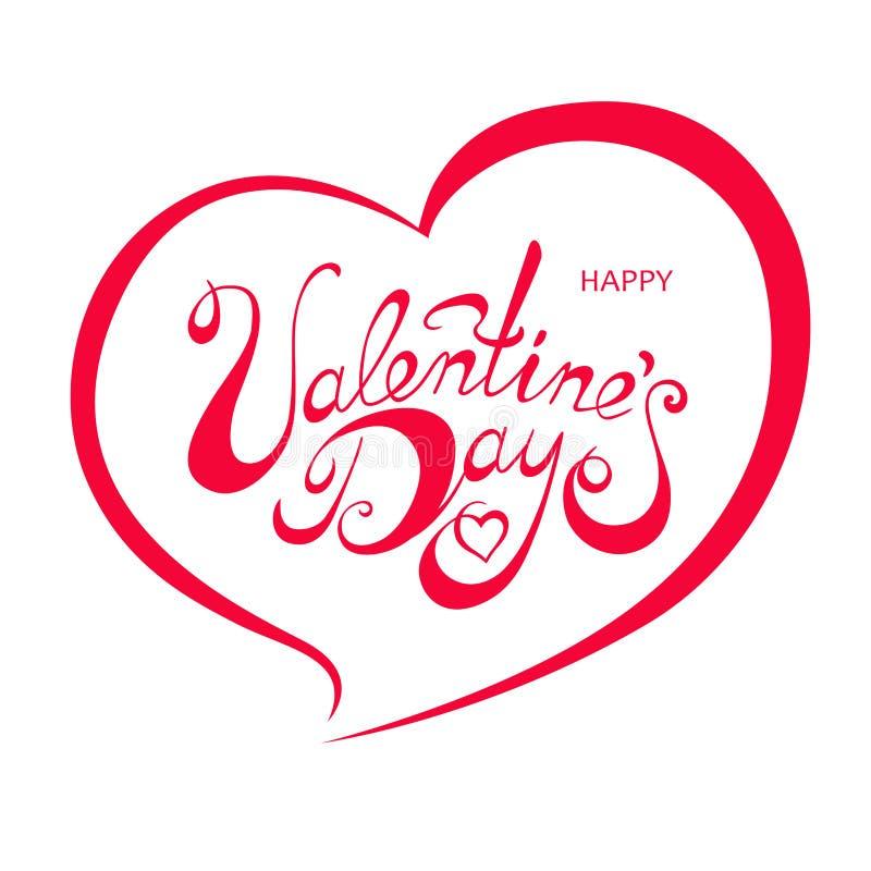 Iscrizione di giorno di biglietti di S. Valentino illustrazione di stock