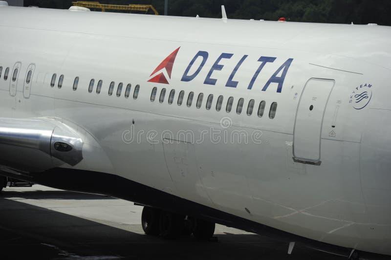 Iscrizione di linea aerea di delta fotografie stock libere da diritti