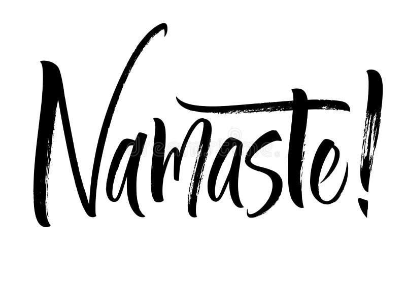 Iscrizione di Namaste illustrazione vettoriale