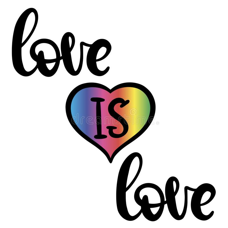 Iscrizione di orgoglio di Lgbt per il matrimonio gay royalty illustrazione gratis