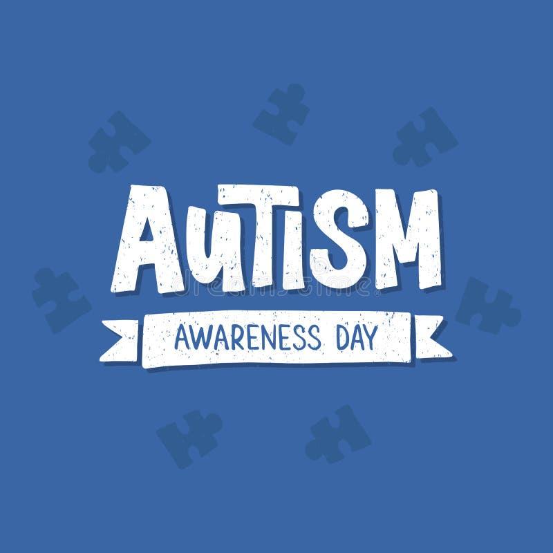 Iscrizione disegnata a mano di autismo royalty illustrazione gratis
