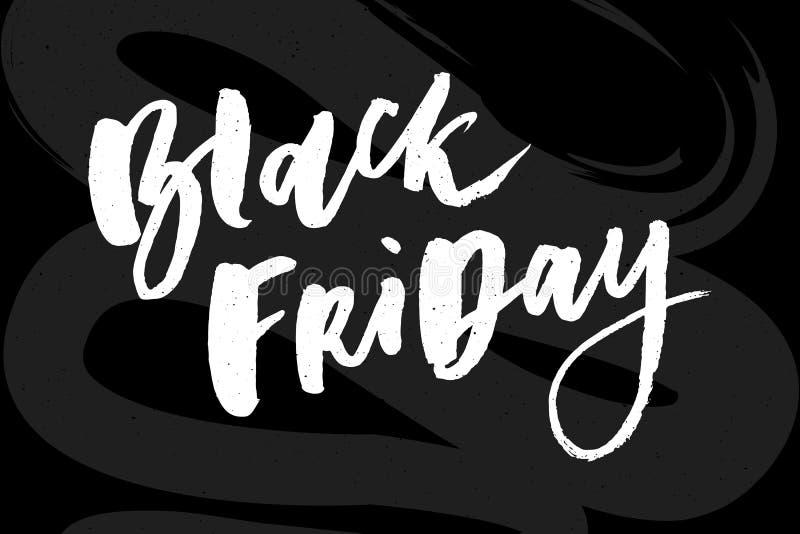Iscrizione fatta a mano di vendita di Black Friday, calligrafia per il logo, insegne, etichette, distintivi, stampe, manifesti, w royalty illustrazione gratis