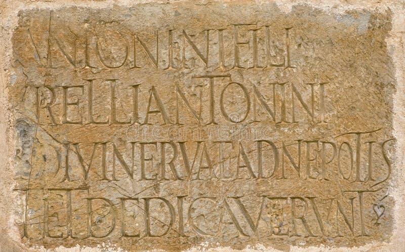 Iscrizione latina romana fotografia stock libera da diritti