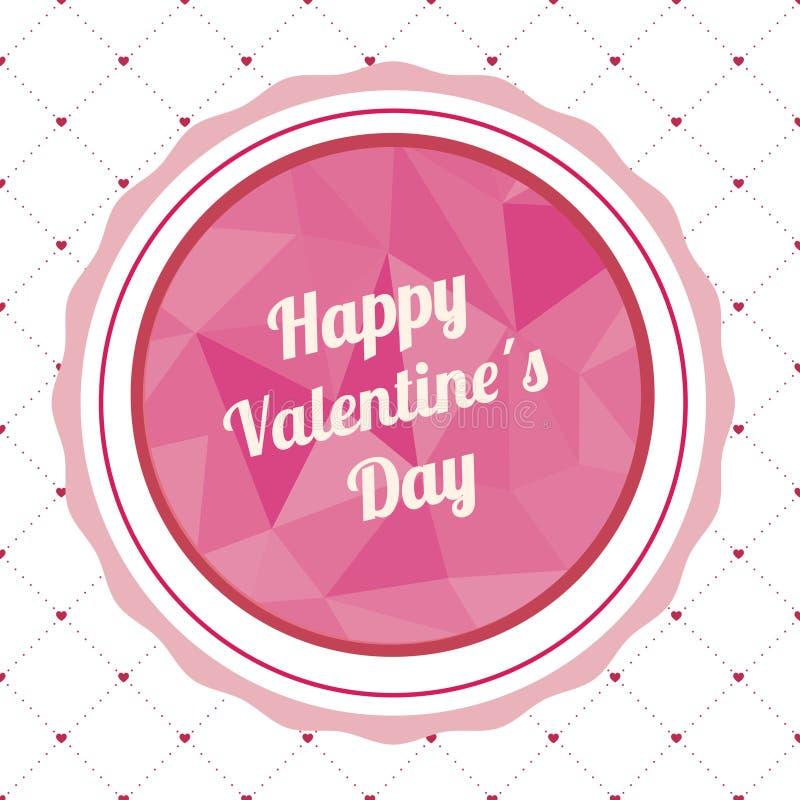 Iscrizione a mano del backgroun con lettere felice della cartolina d'auguri di giorno di biglietti di S. Valentino royalty illustrazione gratis