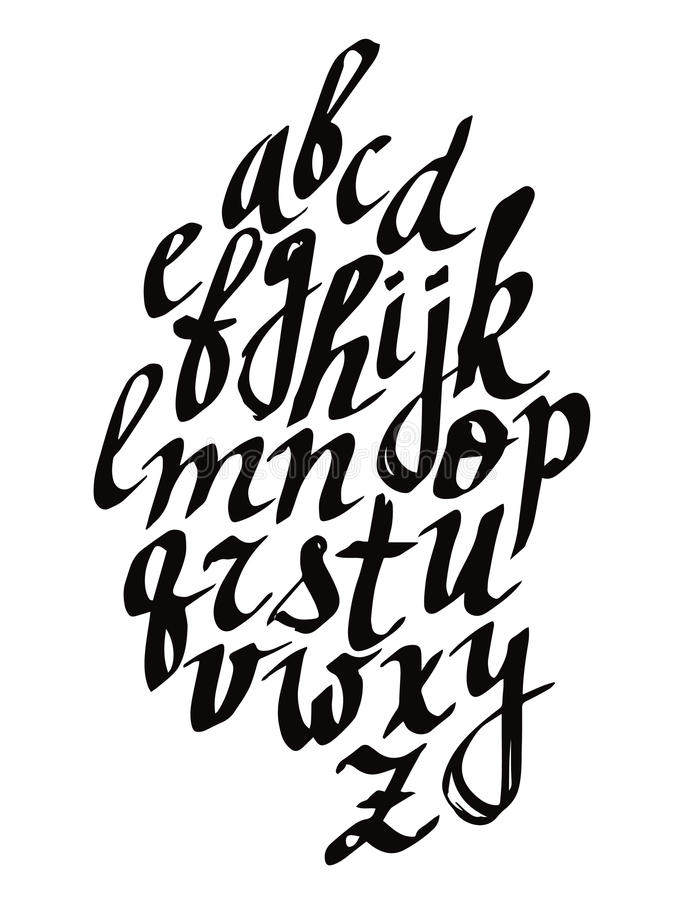 Iscrizione moderna della spazzola di calligrafia Progettazione della carta o del manifesto di vettore con tipografia unica Alfabe illustrazione vettoriale