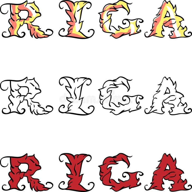 Iscrizione scritta mano di Riga di vettore royalty illustrazione gratis